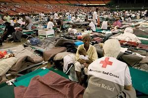 red cross volunteer
