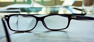 glases on a table