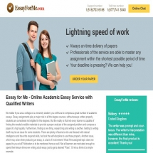 essayforme.com reviews Once i read enough essayformecom reviews that negatively rated this site, i decided to experience their process of writing and delivering papers.