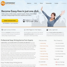 Mycustomessay.com Screen