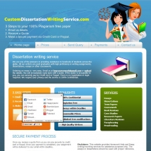 Customdissertationwritingservice.com Screen