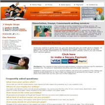 Customdissertationwritingservice.co.uk Screenshot