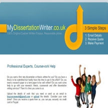 Mydissertationwriter.co.uk Screenshot