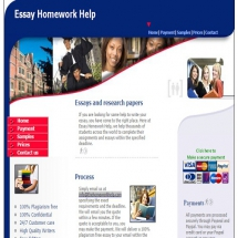 Essayhomeworkhelp.com Screen