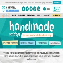Handmadewritings.com Screen