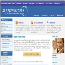 Sleekwriters.info Screen